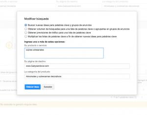como crear una página web profesional usando key planer de google adwors